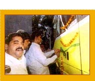 Shri Chandra Babu Naidu (Chief Minister, Andhra Pradesh) Inaugurating Our New Bus